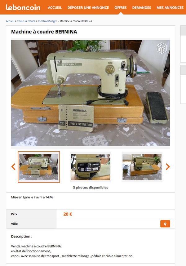 Cart de prix machines coudre identiques ou quasi - Reparation de machine a coudre ...